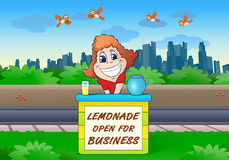 Sälja för lemonad Fotografering för Bildbyråer