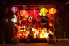 Sälja lyktor i Vietnam Arkivfoton