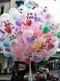 Säljare av ballonger Royaltyfri Bild