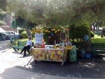 Säljare av citrongranit, i Sorrento Royaltyfria Bilder