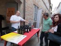 Säljare av italienska viner Arkivbilder