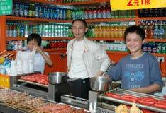 säljare för chengdu porslinmat Royaltyfri Fotografi
