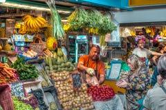 Säljare i marknaden Royaltyfri Foto
