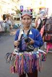 Säljare på den Khaosan vägen, Bangkok Royaltyfria Bilder