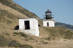 Sällan besökt Punta Gorda fyr, Kalifornien Royaltyfri Foto