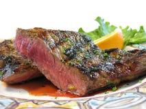 sällan steak Fotografering för Bildbyråer