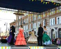 Sällskapsdans på festivalen Nizhny Novgorod Arkivbild