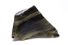 Sällsynt grön Obsidian Royaltyfria Bilder