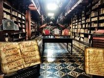 Sällsynt historiskt bokbestånd i Lima, Peru Royaltyfria Bilder