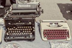 Sällsynt Mercedes skrivmaskin Arkivbild