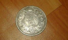 sällsynt mynt av indisk välde under brittisk regel Royaltyfri Foto