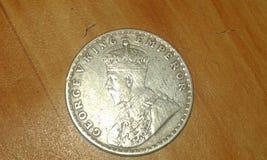 sällsynt mynt av indisk välde under brittisk regel Arkivbilder