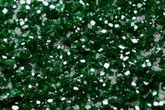 Sällsynta klara gröna uvarovitekristaller Arkivfoto