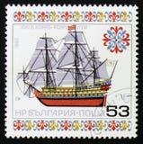 Sänd århundradet för `-Loui Royal ` XVII, serie historisk skepp` för `, circa 1980 Arkivfoton