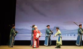 """Sänd till skeppsdocka-Shanxi Operatic""""Fu Shan till Beijing† Royaltyfria Foton"""