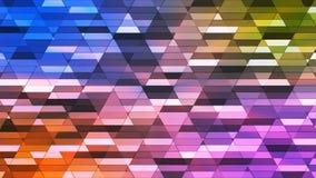 Sända att blinka Diamond Hi-Tech Small Bars, mång- färg, abstrakt begrepp, Loopable, 4K royaltyfri illustrationer
