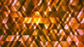 Sända att blinka högteknologiska diamanter, apelsinen, abstrakt begrepp, Loopable, 4K vektor illustrationer