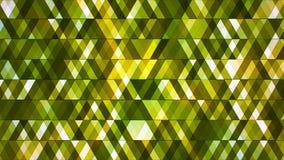 Sända att blinka högteknologiska diamanter, göra grön, göra sammandrag, Loopable, 4K royaltyfri illustrationer