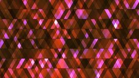 Sända att blinka högteknologiska diamanter, rödbrunt som var abstrakta, Loopable, 4K royaltyfri illustrationer