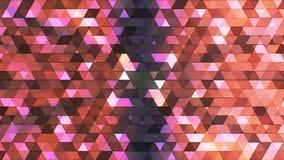 Sända att blinka högteknologiska trianglar för polygonen, mång- färg, abstrakt begrepp, Loopable, 4K arkivfilmer