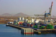 Sändande hamn fotografering för bildbyråer