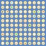 100 sändande symboler ställde in tecknad filmvektorn Royaltyfri Bild