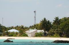 Sändaremast i Maldiverna Arkivfoton