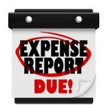 Sänder stopptiden för kalendern för det förfallna datumet för kostnadsrapporten Fotografering för Bildbyråer