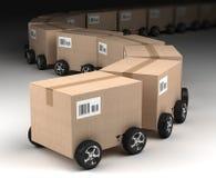 Sändnings, logistik och leveransbegrepp Royaltyfri Foto