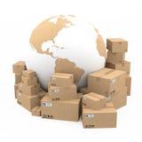 Sändnings- och leveransbegrepp Arkivfoton