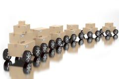 Sändnings- och leveransbegrepp Fotografering för Bildbyråer