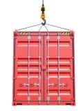 Sändningsbehållare Crane Hook Arkivfoto
