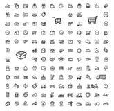 Sändningssymbolsuppsättning royaltyfri illustrationer