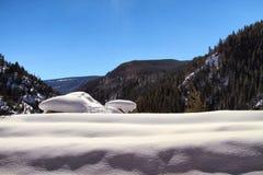 Säng av snö Arkivfoton