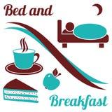 Säng - och - frukost Royaltyfri Bild