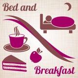Säng - och - frukostmeny Royaltyfria Bilder