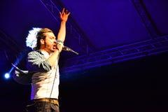 Sänger auf Stadium Lizenzfreies Stockbild