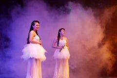 Sänger chenshuna und yexiaoyan singen Aspirationen des Winds Lizenzfreie Stockbilder