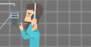 Sänger, der Aufzeichnung macht Lizenzfreie Stockbilder