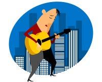 Sänger gibt Konzert Lizenzfreie Stockbilder