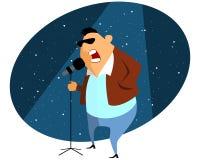 Sänger gibt Konzert Stockfotos