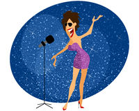 Sänger gibt Konzert Stockfoto