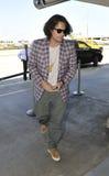 Sänger John Mayer am LOCKEREN Flughafen. stockbild