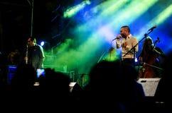 Sänger Omer Adam führt durch Stockfotos