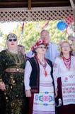 Sänger an Russland-Tag Auckland stockfotos