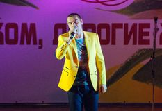 Sänger Sergey Kuprik Stockfotos