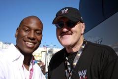 Sänger Tyrese und WWE Ringkämpfer-Sergeant Slaughter Stockfotos