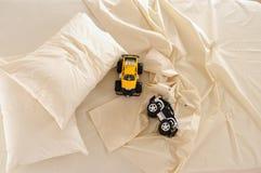 sängkläder royaltyfria bilder