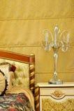 sängklädermöblemanglampa Royaltyfri Foto