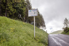 Sänka de Peyresourde Tour de France royaltyfria foton
